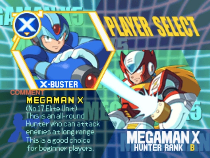 select-character-psx-megaman-x5-the-past-is-now