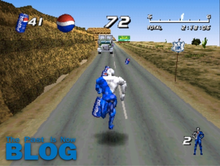 Pepsiman run desert psx playstation gameplay
