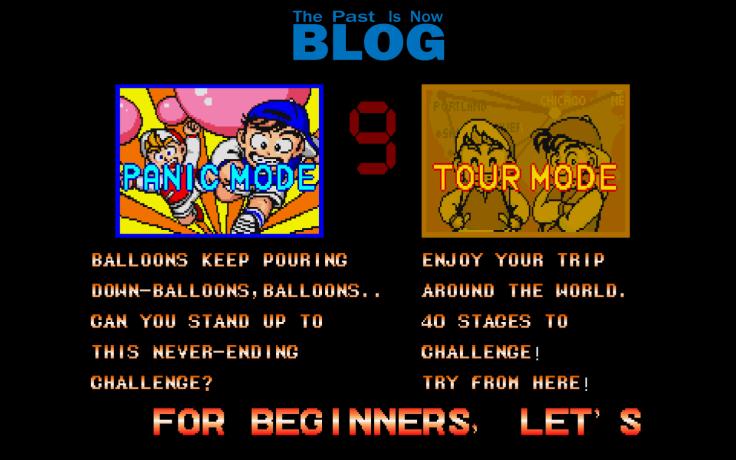eleccion de nivel the past is now blog analisis super pang arcade panic mode tour mode