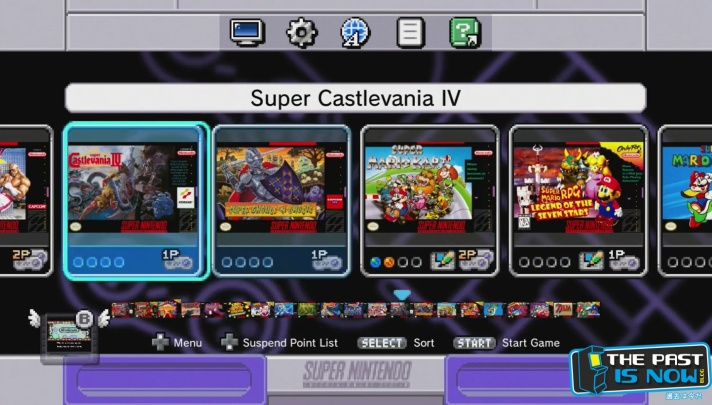 Super Nintendo SNES Mini Interfaz The Past is Noe blog