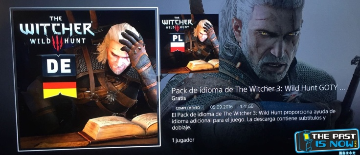 the past is now blog the witcher 3 idiomas
